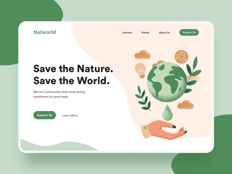 Landing page - Natworld colorful colors website web landing page page clean ux vector ui illustration cambodia ux  ui