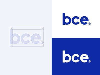 bce - Logo construction type bold branding e c b combination bce typography font logotype