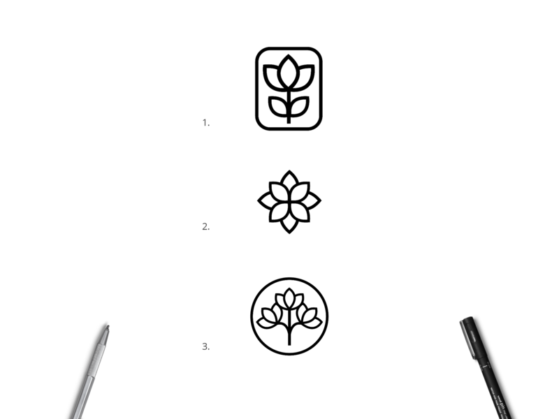 Logo concepts for - White Lotus Garden white garden gardening monogram flower logo logo lotus flower