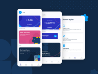 Savings App illustration app ui designer design ux