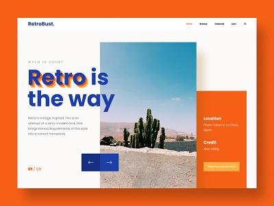 Retro-Modern Mashup style website concept website design website ui design