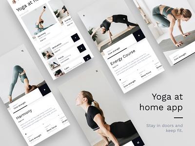 Yoga At Home minimal scandinavian minimalistic yoga yoga app app ui app design app ui