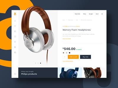 Amazon Redesign amazon ecommerce shop ecommerce website redesign website design website web ux ui