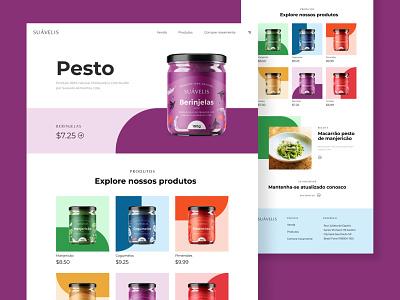 Suávelis ui design ui  ux ecommerce web design photoshop illustrator pesto label print label design