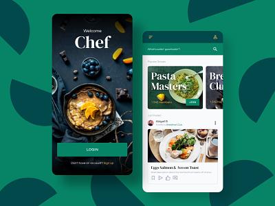 Chef App app ui ui design ui chef app