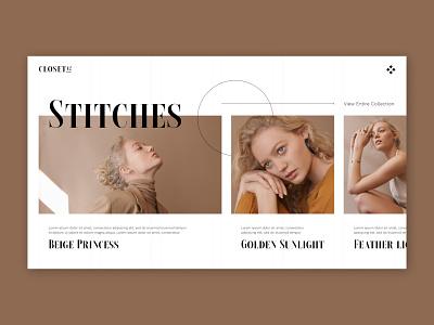 Closet42 web design ui design ui landing page ui fashion