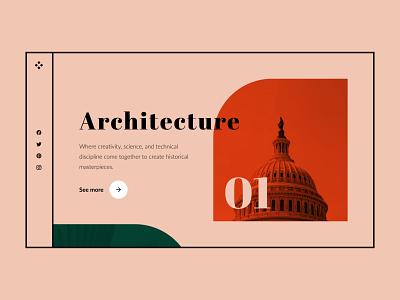 Architecture Website ui web design website ui design uidesign architecture