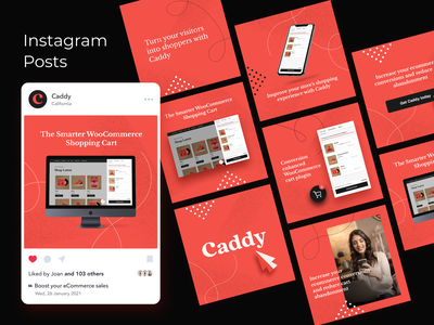 Caddy Ads social media ecommerce banner design banner ads facebook ad instagram