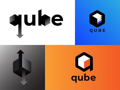 Qube Logo logo design concept logodesign logos logo