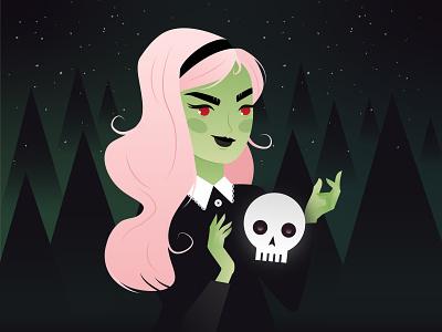 Green Lady illustration digital painting character design illustrator illustration art digital art