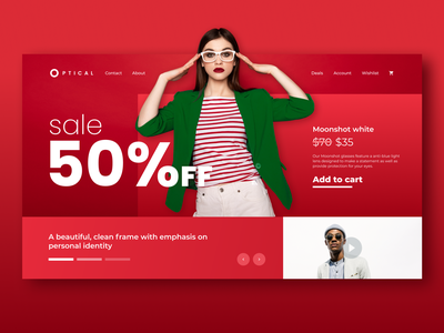 Optical Landing Page landing page concept landing page design ui design ui landingpage