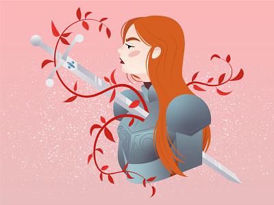 Impaled Knight digital art vector character design illustration