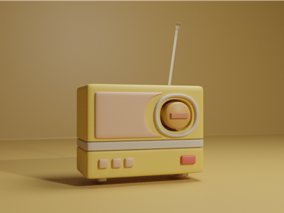 radio illustration design blender blender3d 3d art