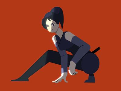 Ninja illustration character design
