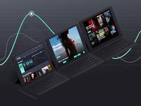 TVGod Concept Dashboard design
