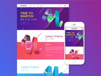 Swatch Concept Interactive E-Commerce Website