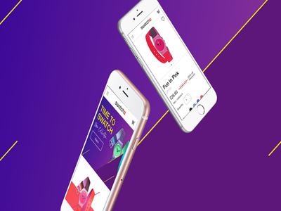 Swatch Concept Interactive E-Commerce Website ui e-commerce website