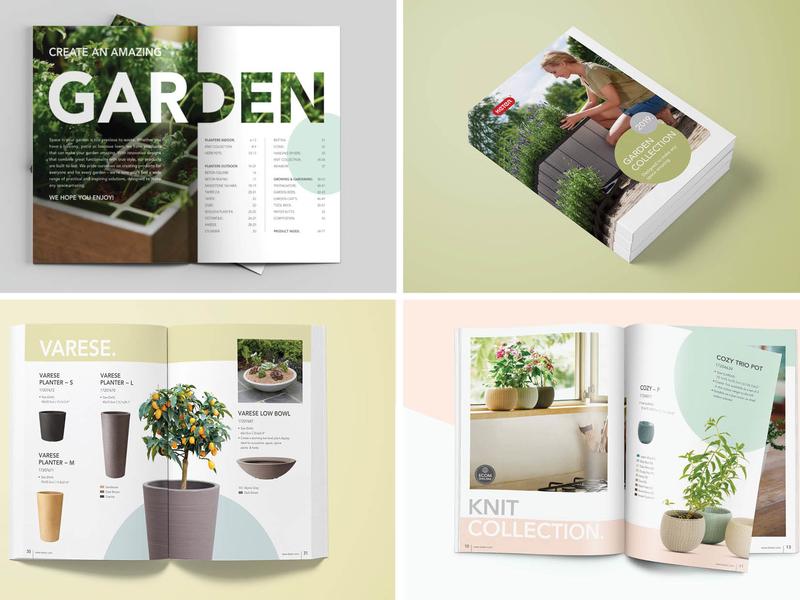 Keter Catalog print catalog typography design ui