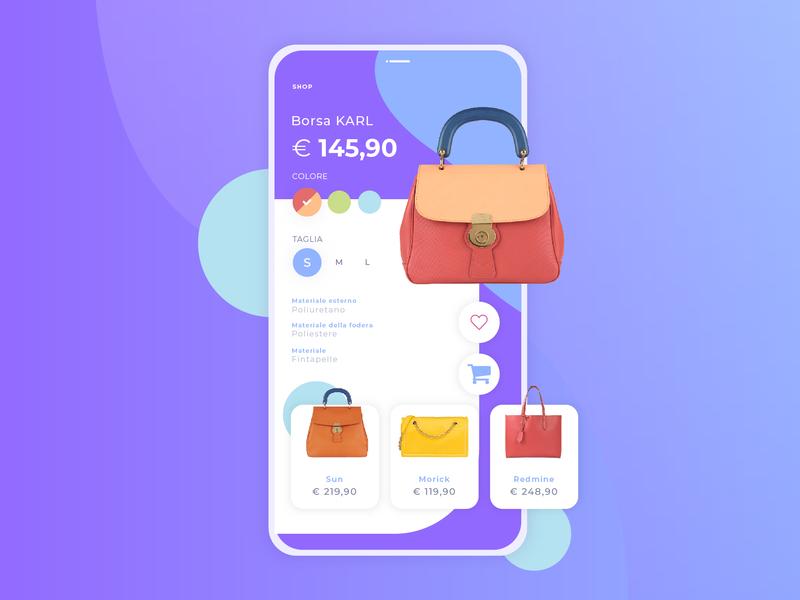 Bag's shop app bags ux ui design