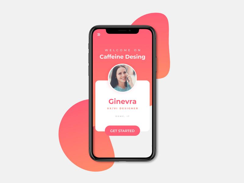 Caffeine Design get started login app design ui ux