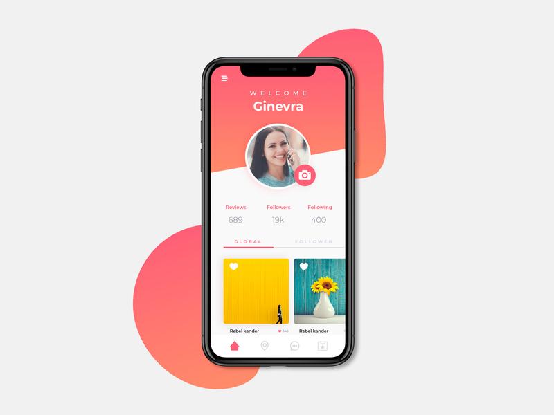 Caffeine Design 2 social portfolio ui ux app design