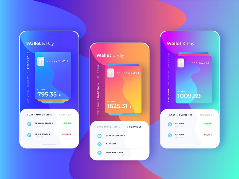 Wallet&Pay Ui / Ux Project financial app credit cards payments wallet ux dailyui app ui design
