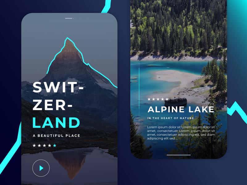 SwitzerLand Travel App Ui/Ux Project switzerland travel app travel dailyui app mobile app design ux ui design app