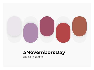 A November's Day - Color palette