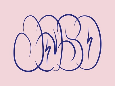 Jaso jaso bubble typography letters throwup graffiti