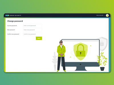 Change password concept ui interface web change password