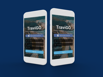 Mobile Sign In/ Sign Up process design travel app ios mobile app ui ux