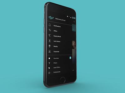 "Mobile App Menu - ""Hayo"" commercial application menu app mobile"