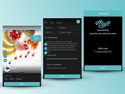 Mobile App User Journey - Redeem offer redeem description offer journey user commercial application app mobile