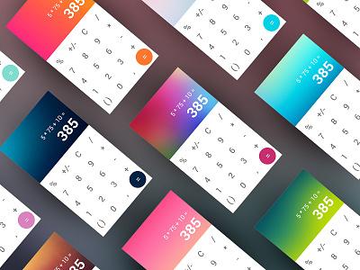 Mobile Calculator App dailyui colored android calculator application app mobile
