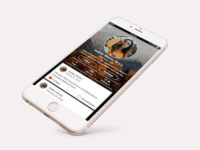 Mobile App - Profile Page draft photos travel app mobile profile ios