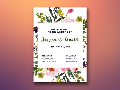 Wedding invite - Flowers design design party flowers invitation invite wedding