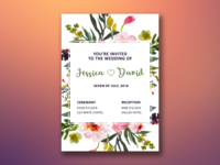 Wedding invite - Flowers design