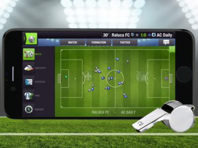 Game app - presentation mobile presentation app football gaming game