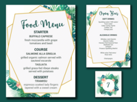 Wedding Menus & Table Number Presentation