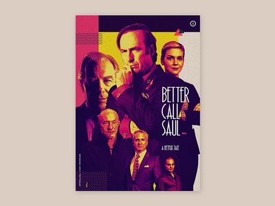 PROJECT POSTERS - Better Call Saul tritone poster graphic design netflix breaking bad better call saul