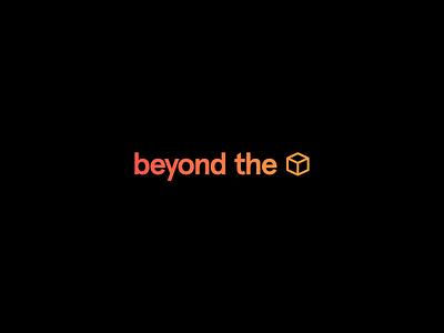 Beyond The Box Logo bold contrast color gradient type logo typography design apercu box beyond the box branding design branding