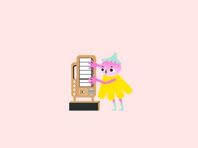 Musician #4 drawing illustrator mascot music electronic music player musician instrument piano shape geometric alien design character character design flat illustration minimal vector