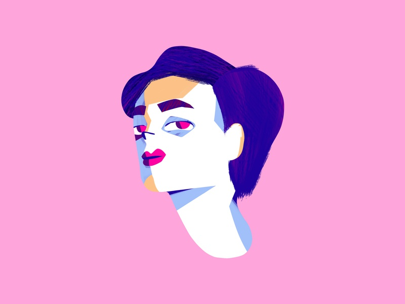 Painted portrait 2 face illustration drawing digital painting texture photoshop character design character portrait woman girl bold colorful
