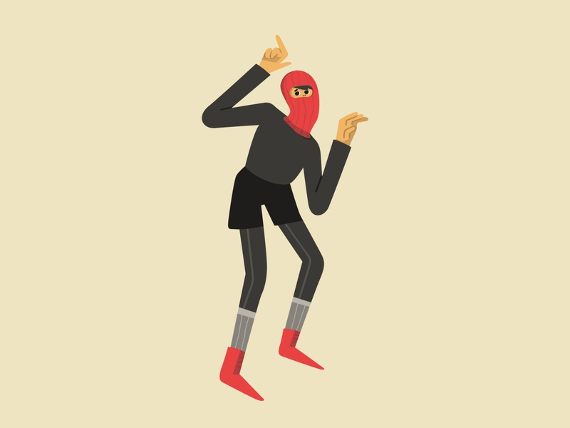 Undecided thief thief undecided minimal flat pose character design character drawing illustration