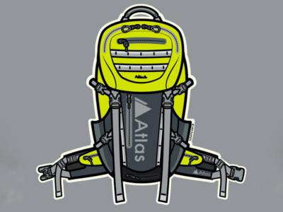 Atlas Pack Athlete Sticker Design