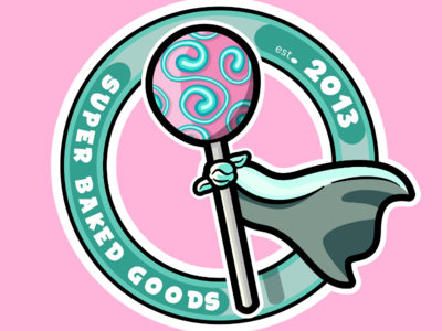 Super Baked Goods Logo Design