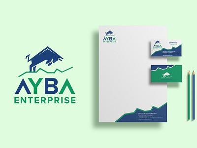 AYBA LOGO AND STATIONARY graphic design branding logo