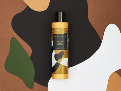Arganmer packaging abstract packaging organic art round shapes shampoo label art direction label design packaging graphic design argan oil