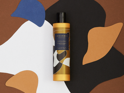 Arganmer packaging gold lines labe desing hair care label hair care brand hair mask shampoo packaging organic art abstract design packaging graphic design illustration design art direction argan oil