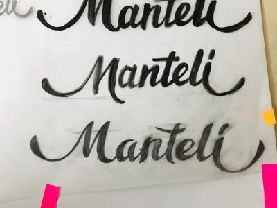 Sketches for custom type logo